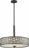 Z-Lite 329P-BRZ Elea Bronze 20.5  Wide Drum Ceiling Pendant Light