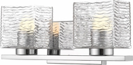 Z-Lite 336-2V-CH-LED Barrett Contemporary Chrome LED 2-Light Bathroom Sconce Lighting