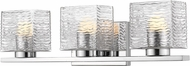Z-Lite 336-3V-CH-LED Barrett Contemporary Chrome LED 3-Light Bathroom Wall Light Fixture