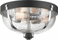 Z-Lite 337F3MB-CH Burren Contemporary Matte Black + Chrome Flush Mount Lighting Fixture
