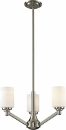 Z-Lite 410-3 Montego Brushed Nickel 58.75  Tall Mini Ceiling Chandelier