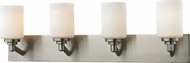 Z-Lite 410-4V Montego Brushed Nickel 9.25  Tall 4-Light Vanity Light Fixture