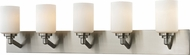 Z-Lite 410-5V Montego Brushed Nickel 9.25  Tall 5-Light Vanity Lighting Fixture
