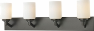 Z-Lite 411-4V Montego Coppery Bronze 31.5  Wide 4-Light Bath Wall Sconce