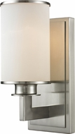 Z-Lite 412-1S Savannah Brushed Nickel 10.25  Tall Sconce Lighting