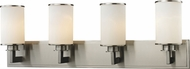 Z-Lite 412-4V Savannah Brushed Nickel 31.5  Wide 4-Light Bath Lighting Sconce