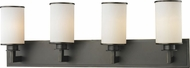Z-Lite 413-4V Savannah Olde Bronze 10.125  Tall 4-Light Lighting For Bathroom