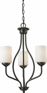 Z-Lite 414-3 Cardinal Olde Bronze 26  Tall Mini Lighting Chandelier