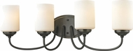 Z-Lite 414-4V Cardinal Olde Bronze 9.25  Tall 4-Light Vanity Lighting