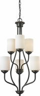 Z-Lite 414-6 Cardinal Olde Bronze 18  Wide Mini Chandelier Light