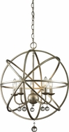 Z-Lite 415-20 Acadia Antique Silver 20  Wide Hanging Pendant Light