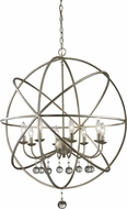 Z-Lite 415-30 Acadia Antique Silver 30  Wide Hanging Light Fixture