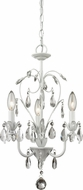Z-Lite 417MW Princess Chandeliers Traditional Matte White 12.625  Wide Mini Hanging Chandelier