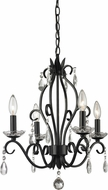 Z-Lite 425MB Princess Chandeliers Traditional Matte Black 17.125  Wide Mini Chandelier Light