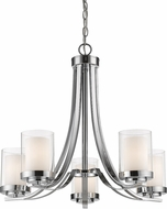 Z-Lite 426-5-CH Willow Chrome Ceiling Chandelier