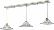 Z-Lite 428MP14-3BN Annora Brushed Nickel Clear Multi Pendant Lamp