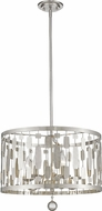 Z-Lite 430D20-BN Almet Brushed Nickel 5-Light Drop Ceiling Lighting