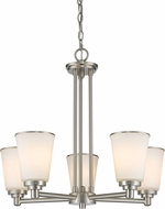Z-Lite 432-5BN Jarra Brushed Nickel 5-Light Chandelier Lamp