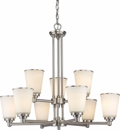 Z-Lite 432-9BN Jarra Brushed Nickel Ceiling Chandelier