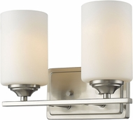 Z-Lite 435-2V-BN Bordeaux Brushed Nickel 2-Light Bathroom Vanity Light Fixture