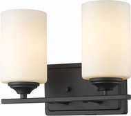 Z-Lite 435-2V-BRZ Bordeaux Bronze 2-Light Bathroom Wall Sconce
