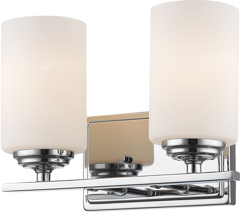 Z lite 435 2v ch bordeaux chrome 2 light bathroom vanity for 6 light bathroom vanity light