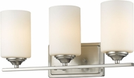 Z-Lite 435-3V-BN Bordeaux Brushed Nickel 3-Light Bath Wall Sconce