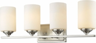 Z-Lite 435-4V-BN Bordeaux Brushed Nickel 4-Light Bathroom Lighting Sconce