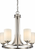 Z-Lite 435-5BN Bordeaux Brushed Nickel 5-Light Ceiling Chandelier