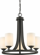Z-Lite 435-5BRZ Bordeaux Bronze 5-Light Hanging Chandelier