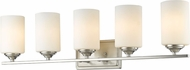 Z-Lite 435-5V-BN Bordeaux Brushed Nickel 5-Light Bath Lighting Sconce
