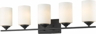 Z-Lite 435-5V-BRZ Bordeaux Bronze 5-Light Bathroom Wall Light Fixture