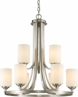Z-Lite 435-9BN Bordeaux Brushed Nickel Chandelier Light