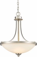 Z-Lite 435P-BN Bordeaux Brushed Nickel Hanging Light Fixture
