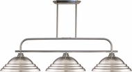 Z-Lite 437-3BN-SBN Annora Brushed Nickel Stepped Brushed Nickel Kitchen Island Light