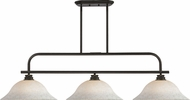 Z-Lite 437-3OB-WM16 Annora Olde Bronze White Mottle Kitchen Island Light Fixture