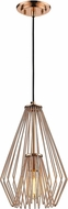 Z-Lite 442MP-CR Quintus Contemporary Copper Mini Hanging Light Fixture