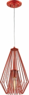 Z-Lite 442MP-RD Quintus Modern Red Mini Ceiling Light Pendant