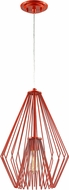 Z-Lite 442MP12-RD Quintus Contemporary Red Hanging Pendant Light