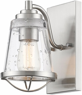Z-Lite 444-1S-BN Mariner Contemporary Brushed Nickel Lamp Sconce