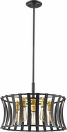 Z-Lite 446-20BZGD Geist Contemporary Bronze Gold Pendant Light
