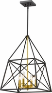 Z-Lite 447-4BZGD Tressle Contemporary Bronze Gold 16  Entryway Light Fixture