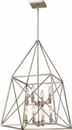 Z-Lite 447-8AS Tressle Modern Antique Silver 20  Foyer Lighting