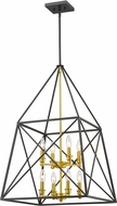 Z-Lite 447-8BZGD Tressle Contemporary Bronze Gold 20  Foyer Light Fixture