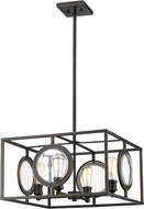 Z-Lite 448-20OB Port Contemporary Olde Bronze 22  Hanging Pendant Light