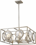 Z-Lite 448-24AS Port Modern Antique Silver 26  Pendant Hanging Light