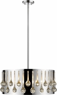 Z-Lite 453-20CH Oberon Chrome 21  Drum Hanging Light