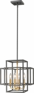 Z-Lite 454-14BRZ-OBR Titania Contemporary Bronze + Olde Brass 14  Foyer Light Fixture