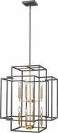 Z-Lite 454-28BRZ-OBR Titania Contemporary Bronze + Olde Brass 22  Entryway Light Fixture