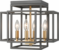 Z-Lite 454F-BRZ-OBR Titania Contemporary Bronze + Olde Brass Ceiling Lighting